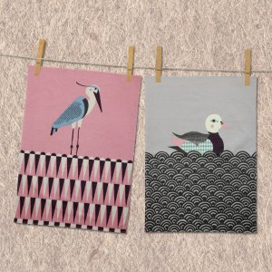 MAGPIE TEA TOWEL HERON & DUCK
