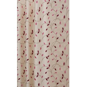 DELAMERE CERISE EMBROIDERED FABRIC SOLD BY THE METRE CHANGE THE QUANTITY OF METRES INTO THE BOX