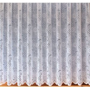 WHITE ALLOVER LACE DESIGN LADY-JAYNE WHITE NET CURTAIN INSPIRED BY  NOTTINGHAM LACE