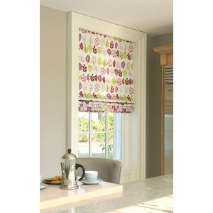ROMAN BLIND LEAF LINES DAMSON  MADE TO YOUR EXACT SIZE PLEASE EMAIL OR PHONE FOR PRICE