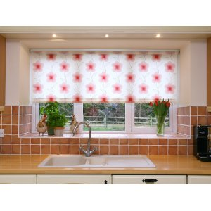 OLDMILL ELEGANCE RED ROLLER BLIND PLEASE EMAIL OR RING FOR PRICE