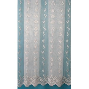 BELINDA WHITE WITH SILVER YARN  NET CURTAIN
