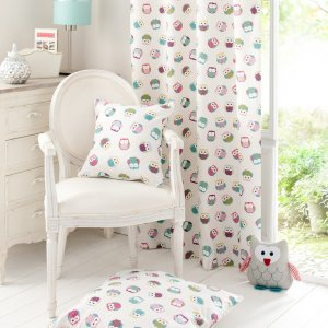 OWLS FRYETTS FABRIC 100% COTTON PRINT MADE TO YOUR EXACT DROP FREE OF CHARGE