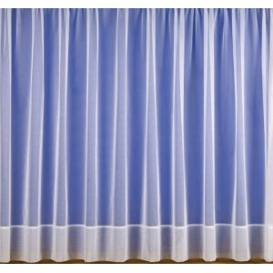 FLAME RETARDANT WHITE NET CURTAIN WITH DOUBLE HEM BASE