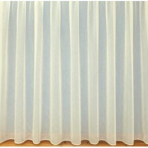 Fire Retardant Sultan CREAM textured white voile