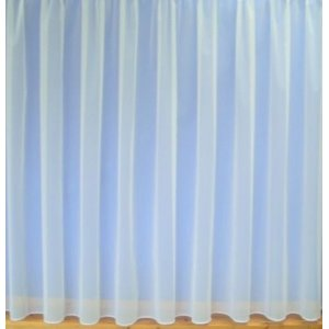 Brooke cream net curtain plain net with lead weighted base