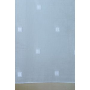 Zeta white voile net curtain