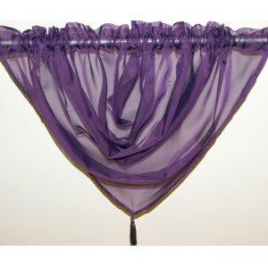 Plain Voile Purple Swag