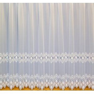 MORGAN  WHITE MACRAME LACE VOILE