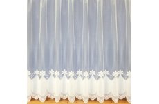 OLIVIA WHITE NET CURTAIN:priced per metre