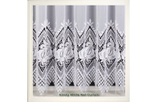 KIRSTY WHITE LIMITED STOCK LEFT DISCONTINUED DESIGN MACRAME LACE VOILE UPT0 108 only 3mtrs left