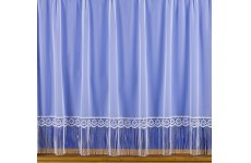 SALLY WHITE VOILE NET CURTAIN