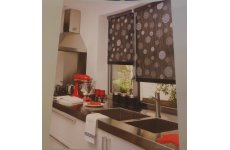 ELEGANCE ROLLER BLIND COLOUR BLACK,PLEASE EMAIL WITH EXACT SIZE