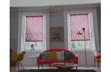 REVIVAL CHRISTIE (RED) ROLLER BLIND, PLEASE EMAIL WITH EXACT SIZE