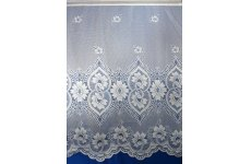 MALTA WHITE  NET CURTAIN ONLY 40 inches