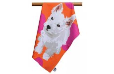 WESTIE TEA TOWEL BY LESLIE GERRY