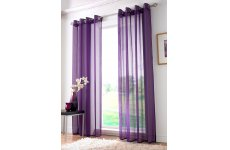 IVORY, PURPLE OR TEAL RINGTOP VOILE PANELS PRICE IS PER PANEL