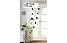 AVON BLACK EMBROIDERED MUSLIN PANEL PRICED EACH