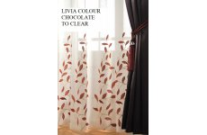 LIVIA CHOCOLATE VOILE PANEL 2 PANELS �10.00