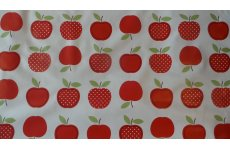 APPLES PVC TABLE COVERING 140CM WIDE PRICED PER METRE