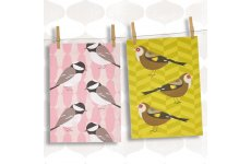 MAGPIE TEA TOWELS COALTIT & GOLDFINCH