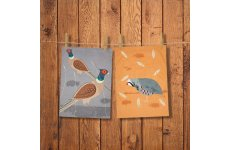 MAGPIE TEA TOWELS  PHEASANT & PARTRIDGE