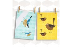 MAGPIE TEA TOWELS NUTHATCH & WREN