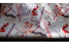 1950s VINTAGE GLAMOUR PVC 140CM WIDE PRICED PER METRE PUT THE AMOUNT IN THE BOX