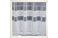 GRASMERE WHITE NET CURTAIN: priced per metre