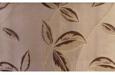ALLAMORE CREAM/ COFFEE FABRIC SOLD BY THE METRE