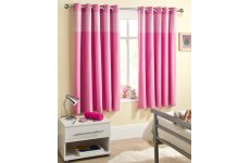 CHILDRENS SWEETHEART  PINK GINGHAM BLOCK OUT CURTAINS METAL EYELETS PRICED PER PAIR