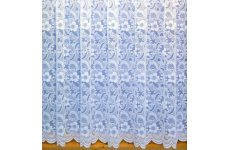 PAMELA white net curtain priced per metre