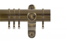 RENAISSANCE SPECTRUM 50MM CURTAIN POLE ANTIQUE BRASS