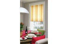 ROMAN BLIND DOODLEBUG STRIPE CITRUS MADE TO YOUR EXACT SIZE PLEASE EMAIL OR PHONE OR PRICE