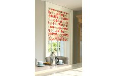ROMAN BLIND LEAF LINES RED  MADE TO YOUR EXACT SIZE PLEASE EMAIL OR PHONE FOR PRICE