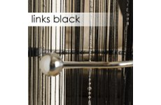 BLACK STRING CURTAINS WITH SILVER PLASTIC STRINGS(FOR CHAIN LOOK EFFECT) EACH PANEL 90CM WIDE X 200C