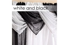 WHITE OR BLACK SWAGS DROP 53CM APROX WIDTH WHILST HANGING 60CM PRICE IS PER SWAG