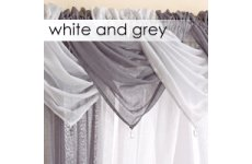 WHITE OR GREY SWAGS PRICE IS FOR ONE SWAG DROP 53CM APPROX WIDTH WHILST HANGING 60CM