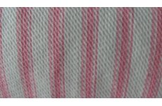 PINK & WHITE STRIPE COTTON  PRICE IS PER METRE