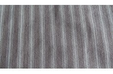 BROWN & WHITE STRIPE FABRIC ROLL END OF 6MTRS PRICE IS FOR THE ROLL