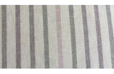 ESSENCE CHATHAM GLYN GRAPE FABRIC WITH MULTI COLOURED STRIPES PRICE  IS PER METRE
