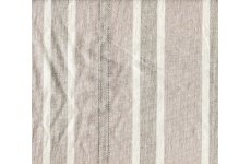 CREAM COTTON  FABRIC WITH BEIGE STRIPES 140CM WIDE PRICE IS PER METRE