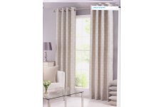 AMELIA STONE FULLY LINED JACQUARD CURTAINS WITH EYELET OR PENCIL PLEAT