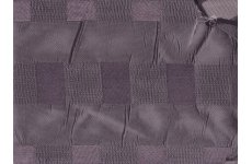SILVER METALIC FABRIC WITH LIGHT GREY & DARK GREY CHENILLE SQUARES PRICE IS PER MTR