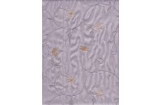 TAFFETA ORIENTAL GARDEN DOVE GREY EMBROIDERED FABRIC PRICE IS PER METRE