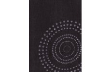 RODIN BILL BEAUMONT BLACK CHENILLE WITH SILVER CIRCLES PRICE IS PER METRE