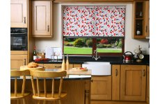 PETALS RED ROLLER BLIND PLEASE RING OR EMAIL FOR PRICE