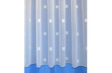 ZITA WHITE VOILE COTTON LOOK NET CURTAIN