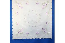 DESIGN NUMBER 3 EMBROIDERED WHITE TABLECLOTH