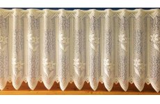 CHELSEA CREAM CAFE CURTAIN HEAVY LACE